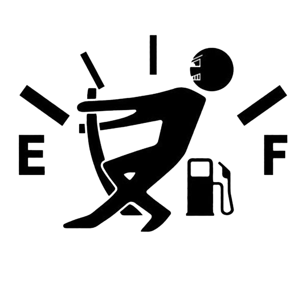 Empty Fuel Gauge Sticker