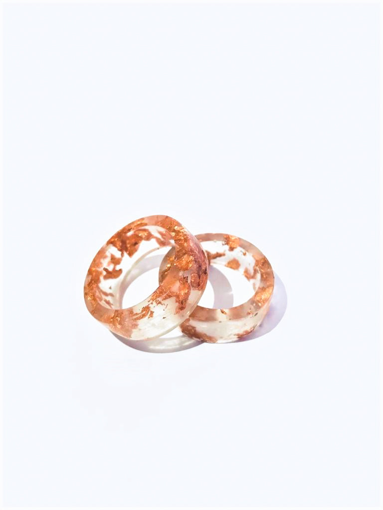 Resin Rings with Bronce