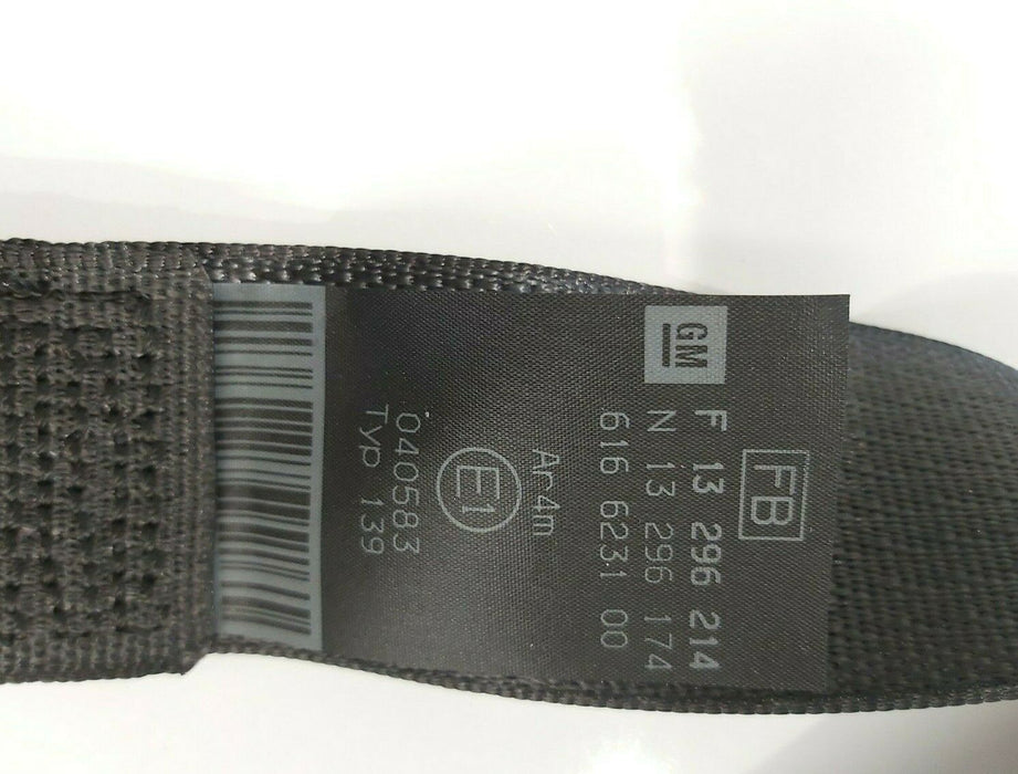 OEM ASTRA H ESTATE PASSENGER SIDE REAR SEAT BELT IDENT FB 13296214 NEW