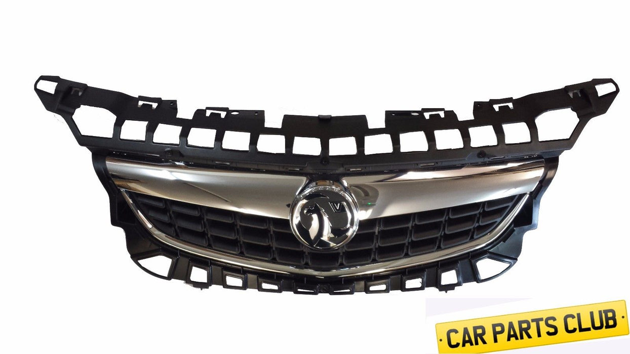 GENUINE VAUXHALL ASTRA J CHROME FRONT GRILLE MOULDING WITH BADGE EMBLEM 13300946