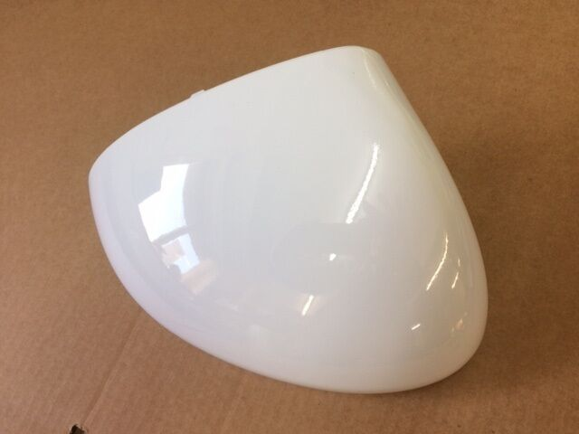 VAUXHALL MERIVA B  DRIVERS WING DOOR MIRROR COVER PAINTED GLACIER WHITE 10U