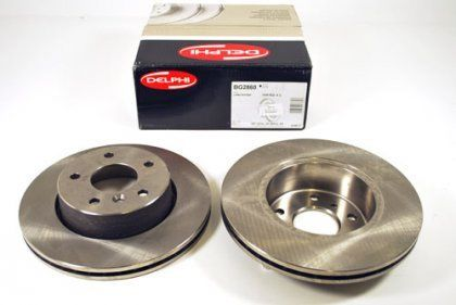 VAUXHALL ASTRA H (2004 - 2009) 5 STUD FRONT BRAKE DISCS PAIR DELPHI QUALITY NEW