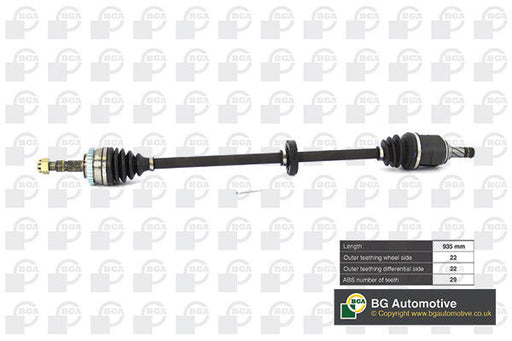 VAUXHALL COMBO CORSA TIGRA RIGHT HAND FRONT DRIVE SHAFT DS9500RA 24427064 NEW