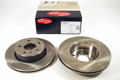Vauxhall Astra Front Brake Discs Vented (Pair) New Delphi 9117677