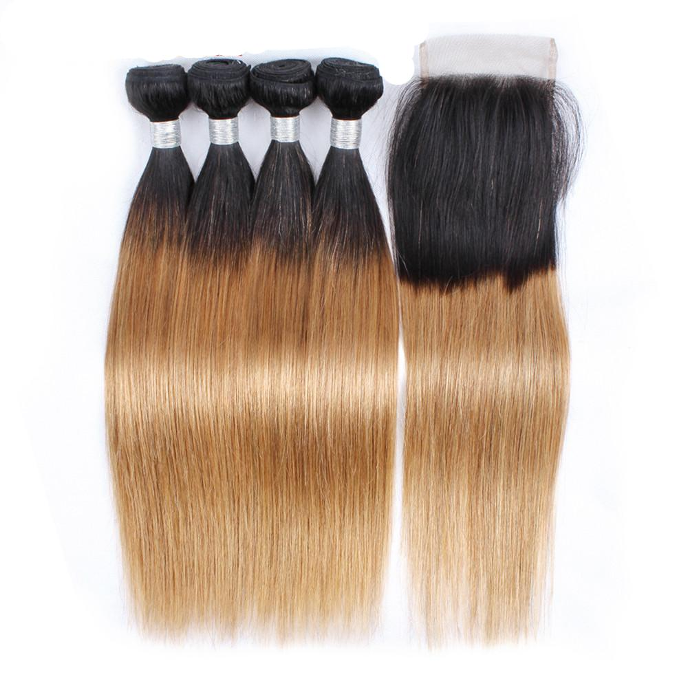 Foreign Fleek Human Hair Extensions Bundles With Lace Closure