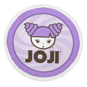 JOJI® GIRL LOGO ROUND BEACH BLANKET