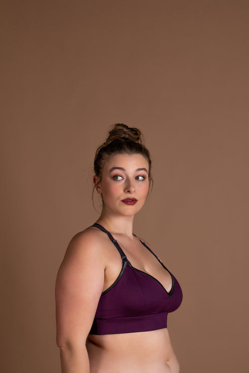 Sweetheart Clip Down Nursing Bra | Plum
