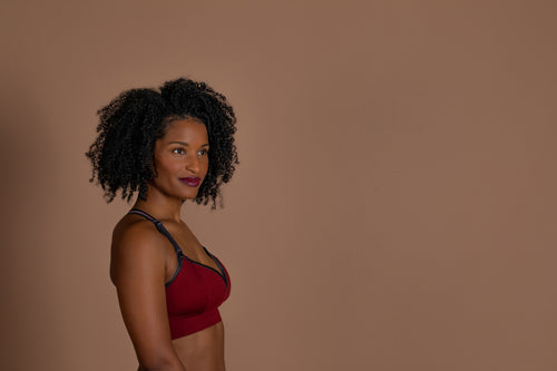 Sweetheart Clip Down Nursing Bra | Cranberry