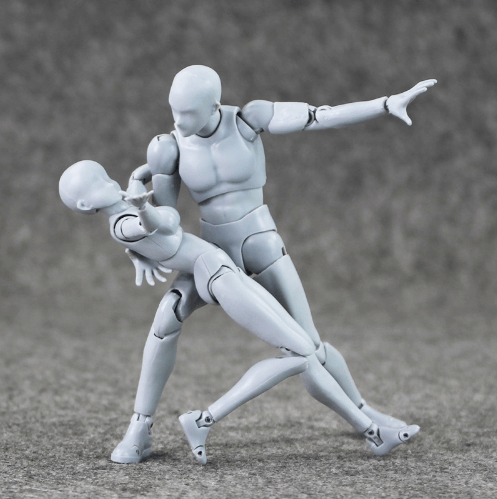 Body Kun Figures with Interchangeable Hands and Tools