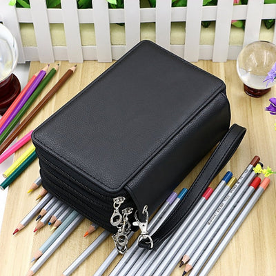 Leather (PU) Pencil Case - 72 Pencil Slots