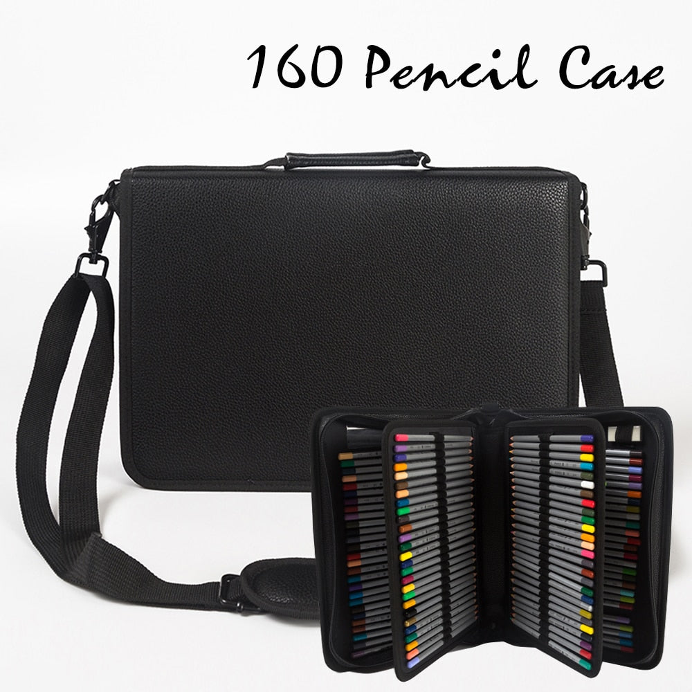 Leather (PU) Pencil Case - 160 Pencil Slots