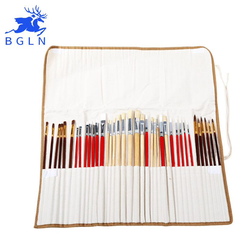 38 Piece Brush Set with Canvas Bag
