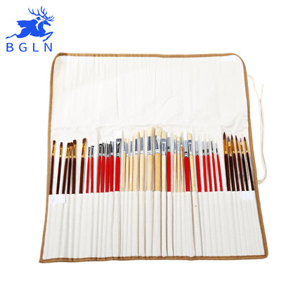 38 Piece Brush Set with Canvas Bag - Terra Art Shop
