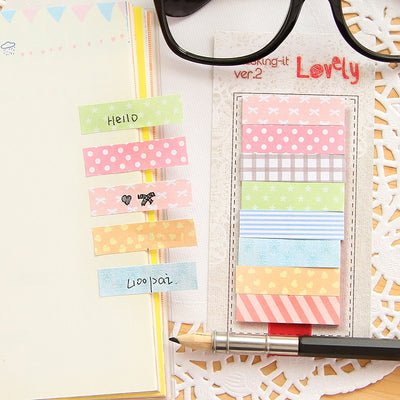 160 Pieces Patterned Memo Sticker Set - Terra Art Shop
