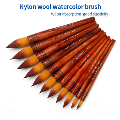 1 Piece Ancient Nylon Hair Watercolor Paint Brush - Terra Art Shop