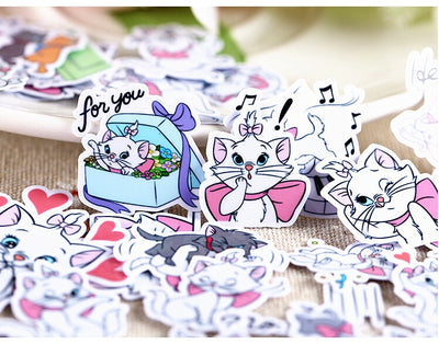 40 Piece Cute Cat Sticker - Terra Art Shop