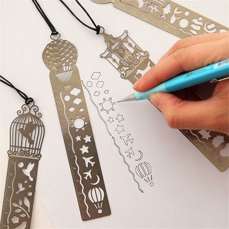 Metal Bookmark Ruler