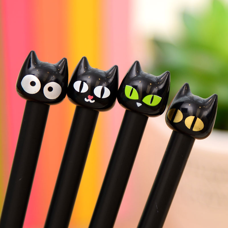 Cute Black Cat Gel Ink Pen