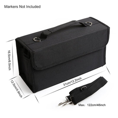 Leather (PU) Case for Markers - 80 Slots