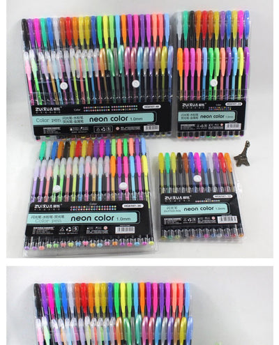 Mengtai Neon Glitter Gel Pen Sets