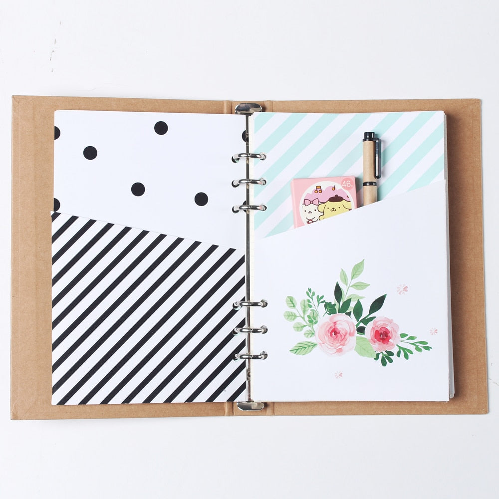 6 Hole Cute Binder Planner Notebook - Terra Art Shop