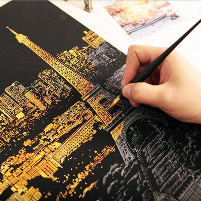 Scratch Painting City Skylines