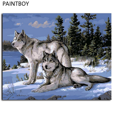 Wolves - Paint-By-Number Kit