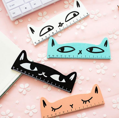 Cute Cat Wooden Ruler