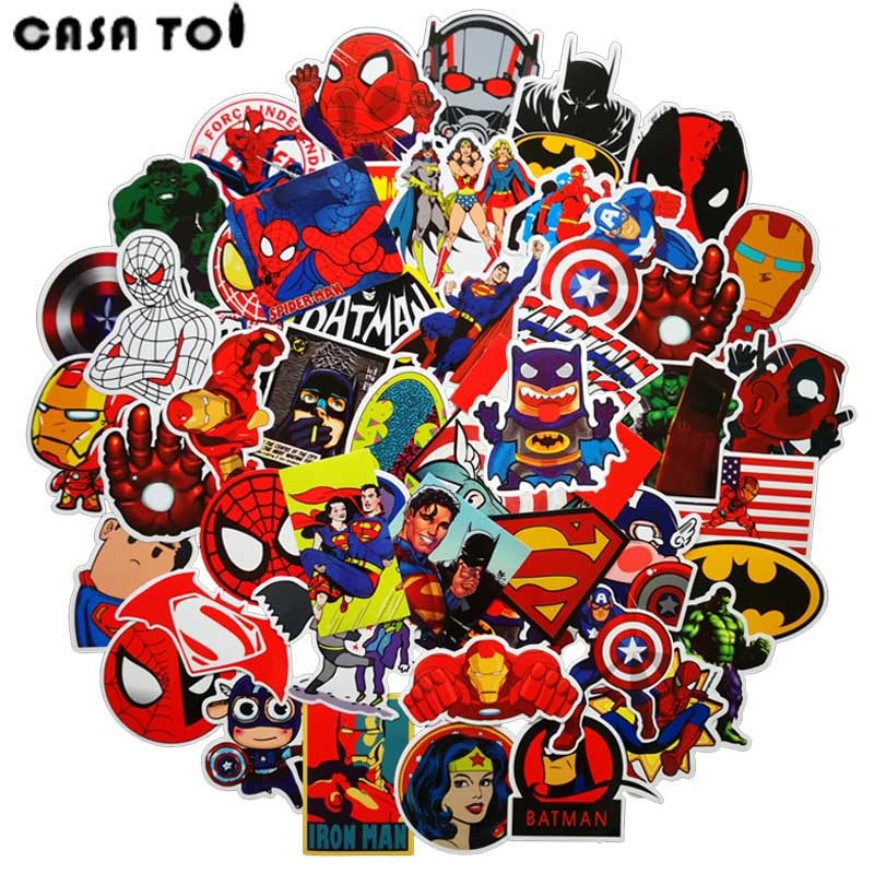 Mixed Superhero Stickers