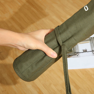 Durable Canvas Brush Bag
