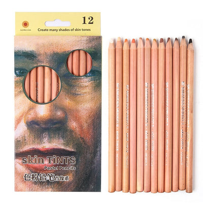 12 Soft Skin Toned Pastel Pencil - Terra Art Shop