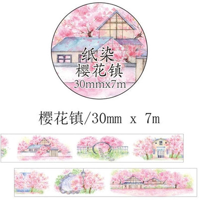 Romantic Cherry Blossom Washi Tape