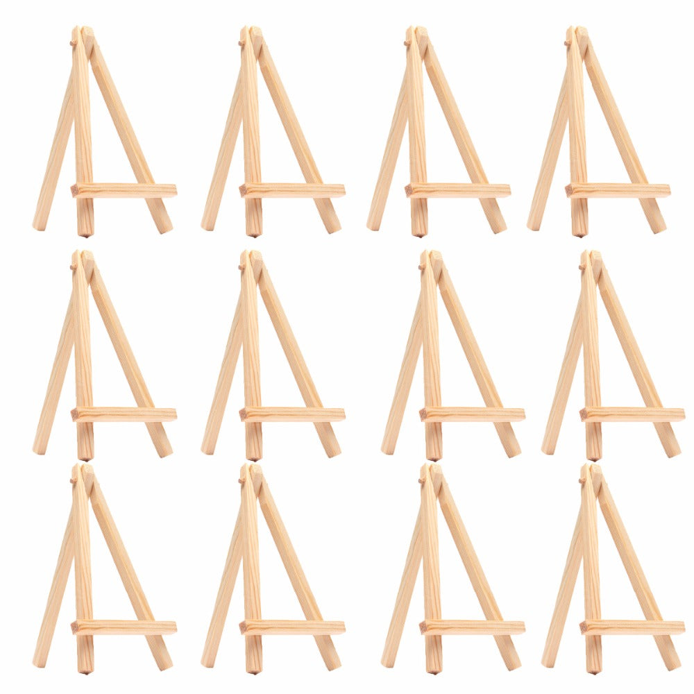12 Pieces Mini Wooden Easel Set for Kids - Terra Art Shop