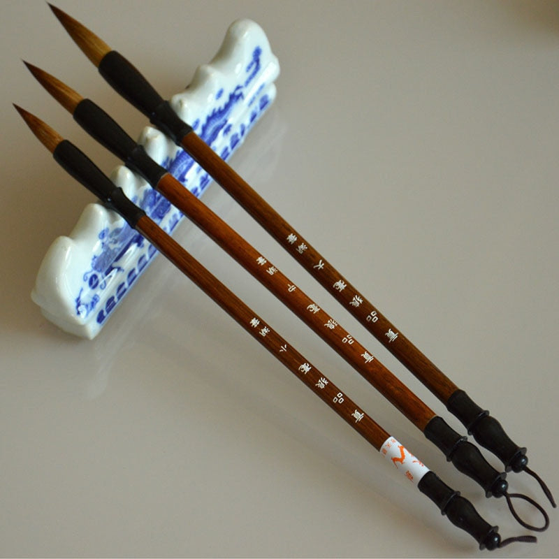 3 Piece Chinese Calligraphy Brush Set