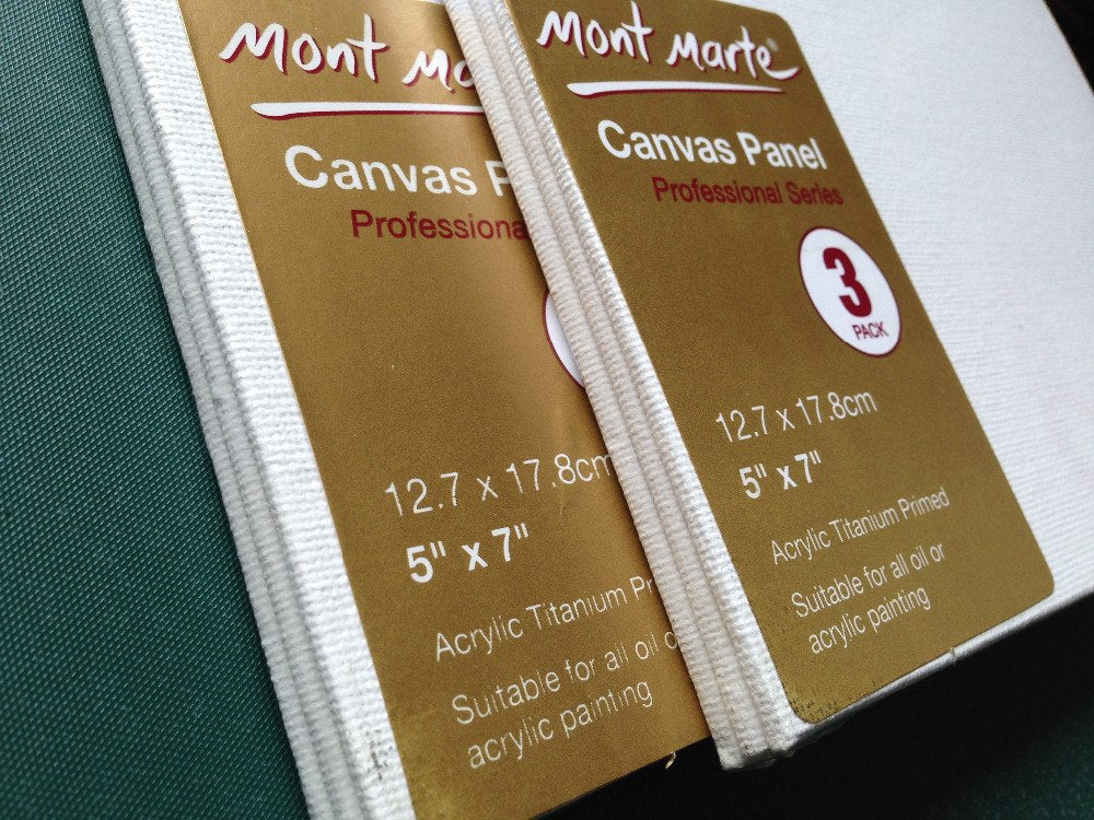 Mont Marte Blank Canvas Panel Pack
