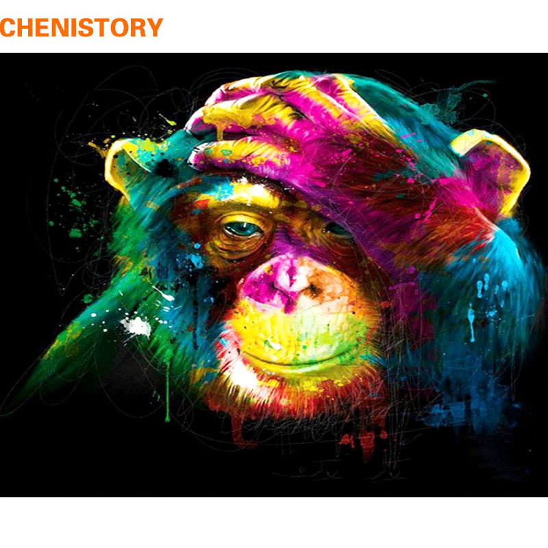 Chimpanzee - Paint-By-Numbers Kit