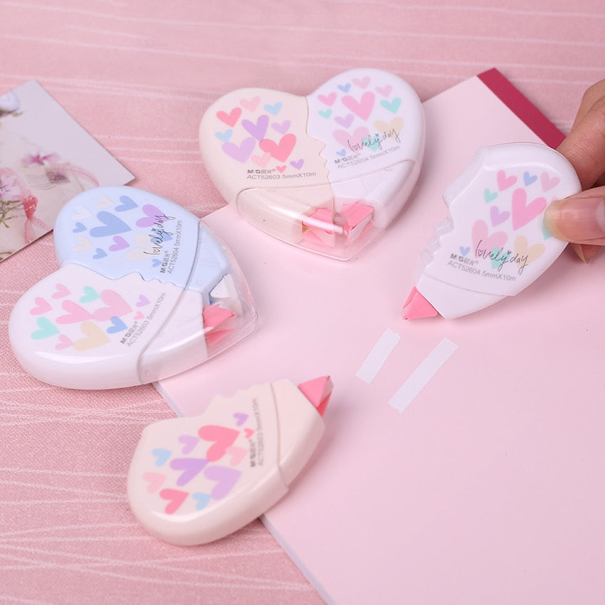 Two-Piece Love Heart Correction Tape