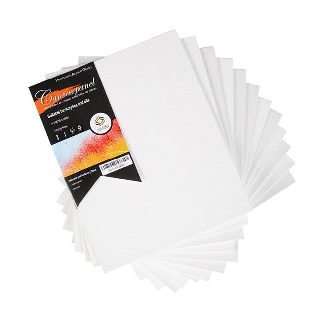CONDA Primed Acid Free Canvas Board Pack