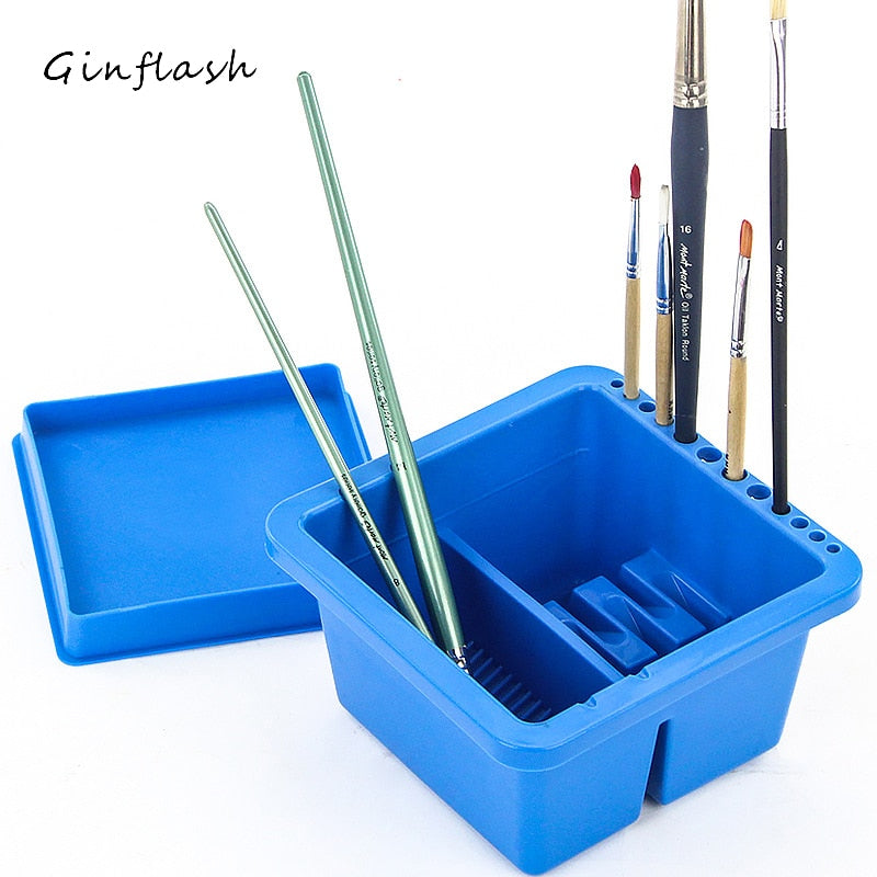 Brush Washer Twin Compartment Bucket