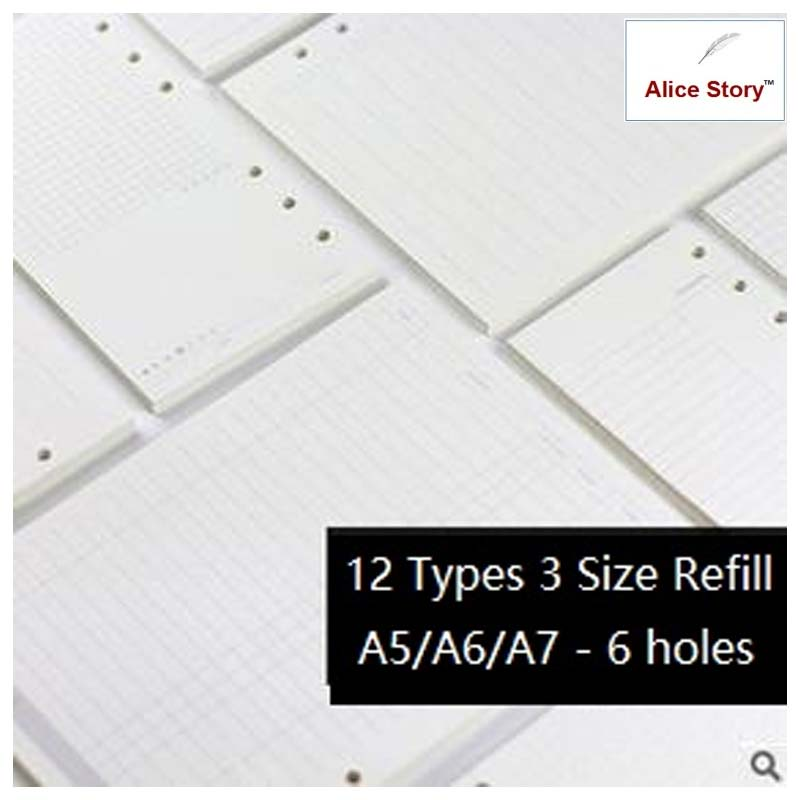 A5/A6/A7 Classic Notebook Filler Paper - Terra Art Shop