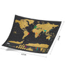 Deluxe Scratch Off World Map - Ultimate Travel Tracker
