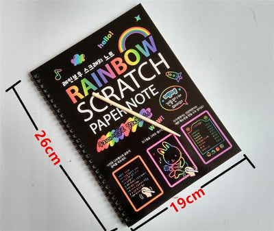Rainbow Color Scratch Paper Note