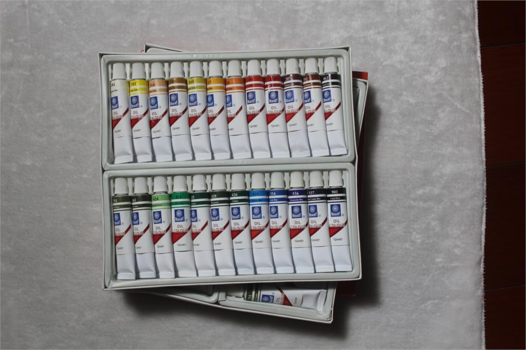 24 Color Oil Paint Set