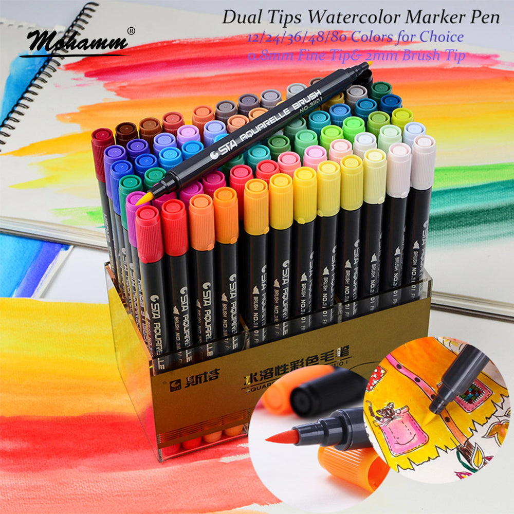 STA Aquarelle Coloring Brush Pen Set