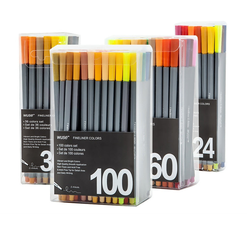 Wuse Color Fineliner Sets
