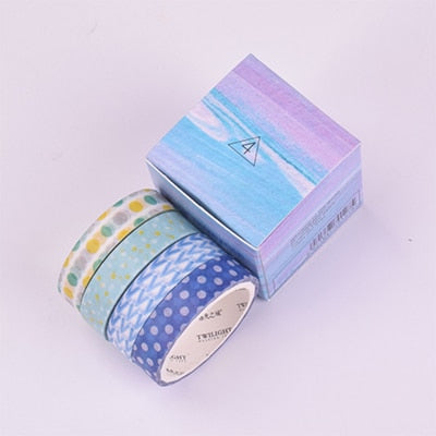 4 Piece Mixes Design Washi Tape - Terra Art Shop