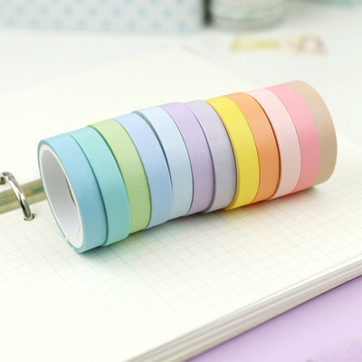 Soft Colors Washi Tape - 12 Set