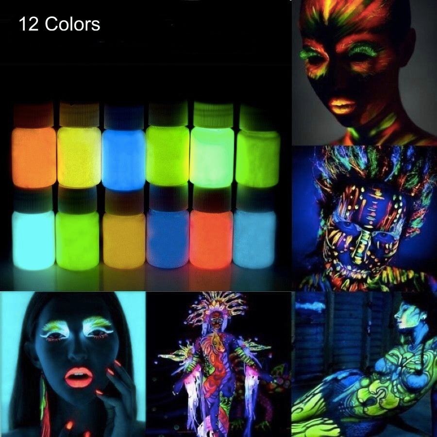 Glowing in the Dark Acrylic Paint Set