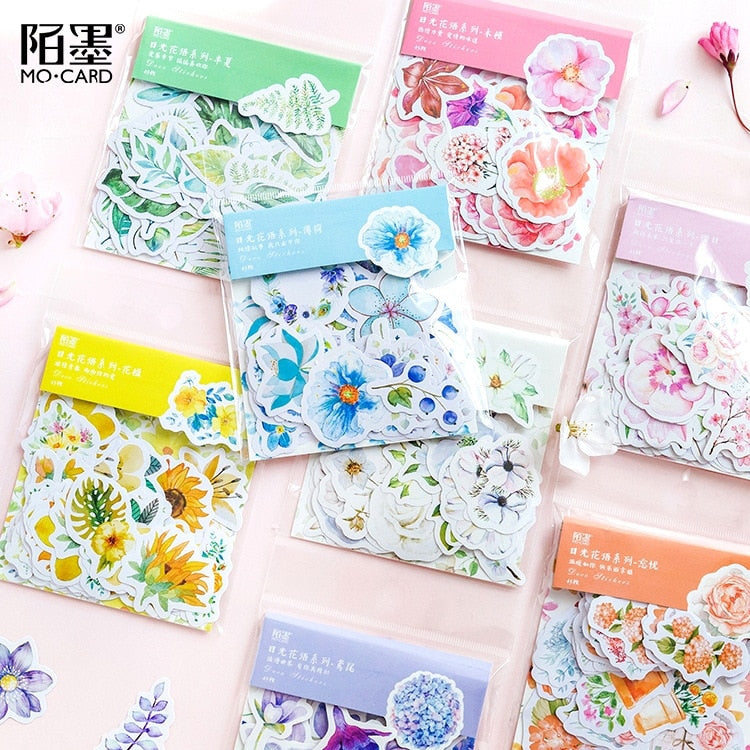 45 Piece Flower Sticker Pack - Terra Art Shop