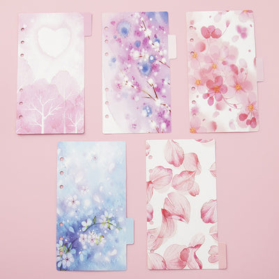 5 Sheets A5/A6 Kawaii Loose Leaf Index Paper - Terra Art Shop
